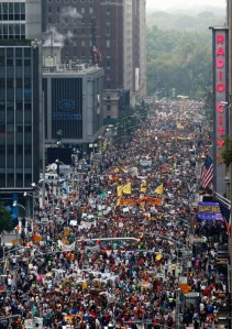 all those people NYC were marching and rallying about climate change